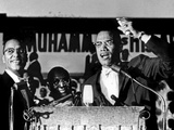 Malcolm X (1925-1965) During a Speech During a Rally of Nation of Islam at Uline Arena, Washington Prints by Richard Saunders