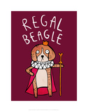 Regal Beagle - Katie Abey Cartoon Print Posters by Katie Abey