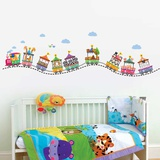 Circus Number Train Wallstickers