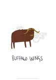 Buffalo Wings - Tom Cronin Doodles Cartoon Print Giclee Print by Tom Cronin