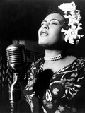 Jazz and Blues Singer Billie Holiday (1915-1959) in the 40's Fotografía