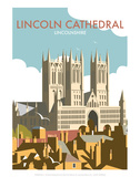 Lincoln Cathedral - Dave Thompson Contemporary Travel Print Prints by Dave Thompson
