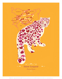 Snow Leopard - WWF Contemporary Animals and Wildlife Print Art by  WWF