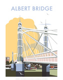 Albert Bridge - Dave Thompson Contemporary Travel Print Posters by Dave Thompson