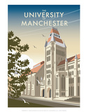 Manchester University - Dave Thompson Contemporary Travel Print Prints by Dave Thompson