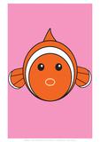 Fish - Animaru Cartoon Animal Print Giclee Print by  Animaru