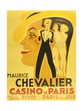Affiche Pour La Revue Paris En Joie Au Casino De Paris Dans Laquelle Chante Maurice Chevalier, 1937 Prints