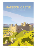 Harlech Castle - Dave Thompson Contemporary Travel Print Posters by Dave Thompson