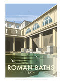 Roman Baths - Dave Thompson Contemporary Travel Print Posters by Dave Thompson