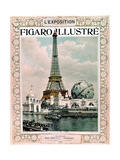 "Cover of Magazine ""Le Figaro Illustre"" : World Fair in Paris, 1900 : Eiffel Tower, Engraving Prints"
