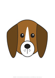 Dog - Animaru Cartoon Animal Print Stampa giclée di  Animaru