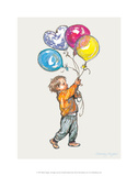 Balloons - Alfie Illustrated Print Prints by Shirley Hughes