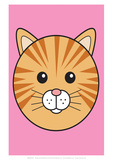 Cat - Animaru Cartoon Animal Print Giclee Print by  Animaru