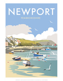 Newport - Dave Thompson Contemporary Travel Print Prints by Dave Thompson