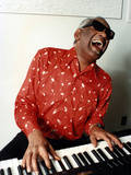 Ray Charles at Home in Los Angeles in February 1990 Photo