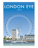 London Eye - Dave Thompson Contemporary Travel Print Prints by Dave Thompson