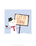 Let It Snow - Wink Designs Contemporary Print Posters by Michelle Lancaster