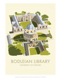 Bodelein Library Exterior - Dave Thompson Contemporary Travel Print Posters by Dave Thompson