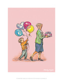 Birthday Balloons - Alfie Illustrated Print Prints by Shirley Hughes