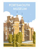 Portsmouth Museum - Dave Thompson Contemporary Travel Print Posters by Dave Thompson
