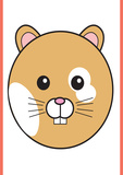 Hamster - Animaru Cartoon Animal Print Giclee Print by  Animaru