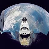 Space Shuttle Atlantis from Orbital Station Mir, June 29, 1995 Photo