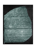 Rosetta Stone (Egypt) Studied by Jean Francois Champollion, Egyptologist, in 1799 Prints
