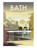 Bath - Dave Thompson Contemporary Travel Print Prints by Dave Thompson