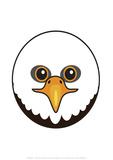 Eagle - Animaru Cartoon Animal Print Stampa giclée di  Animaru