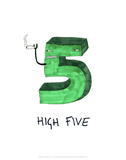 High Five - Tom Cronin Doodles Cartoon Print Posters by Tom Cronin