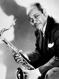 The Saxophonist Coleman Hawkins (1904-1969) in 40's Photographie