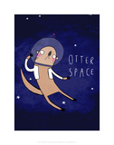 Otter Space - Katie Abey Cartoon Print Posters by Katie Abey