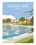 Canoe Lake Southsea - Dave Thompson Contemporary Travel Print Posters by Dave Thompson