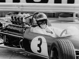 Austrian Pilot Jochen Rindt (1942 - 1970) at Grand Prix of Monaco 1968 Photographie