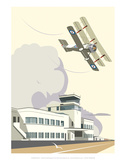 Shoreham Airport Blank - Dave Thompson Contemporary Travel Print Posters by Dave Thompson