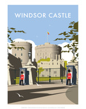 Windsor Castle - Dave Thompson Contemporary Travel Print Prints by Dave Thompson