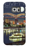 Memphis, Tennessee - Memphis Skyline at Night Galaxy S6 Edge Case by  Lantern Press