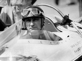 Racing Driver Fangio Here at the Wheel During Race in Monza June 28, 1958 Photo