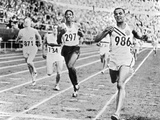 Olympic Games in Helsinki : Malvin Whitfield (USA) Winning the 800 Meters Race in 1 Minute 49 Sec Photo
