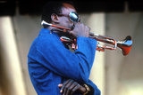 Miles Davis, American Composer and Jazz Trumpet Player, Newport Jazz Festival July 4 1969 Foto