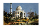 The Taj Mahal in Agra (India) Marble Mausoleum Built in 1632 - 1644 Posters