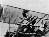Helene Dutrieu in Her Plane, C.1911 Photo