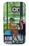 """Poolside Piano Practice,"" June 11, 1960 Galaxy S6 Edge Case by George Hughes"