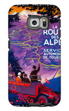 La Route Des Alpes Vintage Poster - Europe Galaxy S6 Edge Case by  Lantern Press
