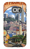San Francisco, California Scenes Galaxy S6 Edge Case by  Lantern Press