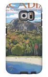 Acadia National Park, Maine - Sand Beach Scene Galaxy S6 Edge Case by  Lantern Press