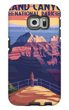 Grand Canyon National Park - Bright Angel Point Galaxy S6 Edge Case by  Lantern Press