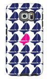 Navy Pink Regatta Galaxy S6 Edge Case by  Avalisa