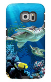 Sea Turtle Swimming Galaxy S6 Edge Case by  Lantern Press