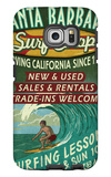 Santa Barbara, California - Surf Shop Galaxy S6 Edge Case by  Lantern Press